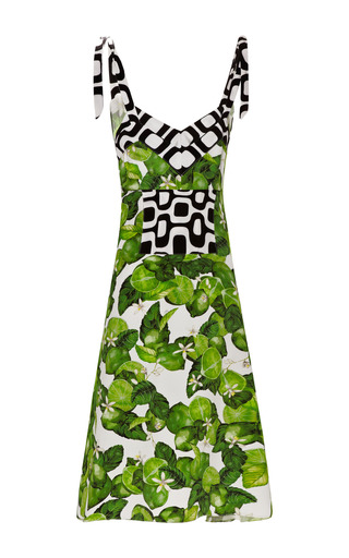 Lime Bow Dress by ISOLDA for Preorder on Moda Operandi