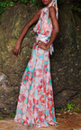 Lobster Maxi Dress by ISOLDA for Preorder on Moda Operandi