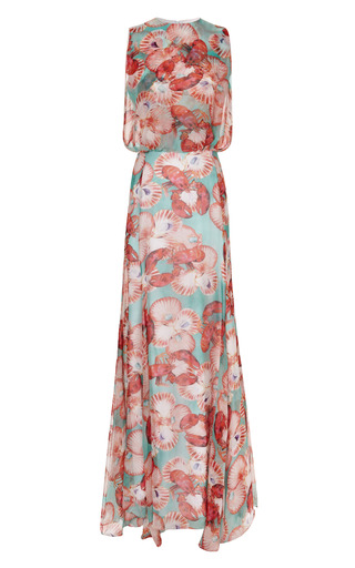Medium isolda print lobster maxi dress
