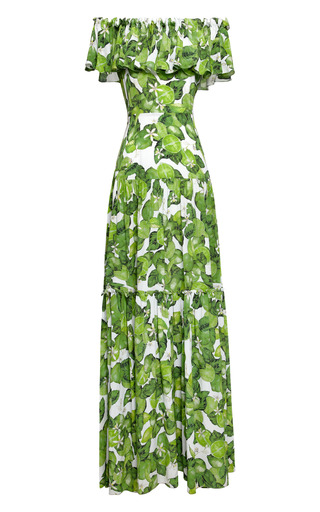 Medium isolda lime green lime santo domingo dress