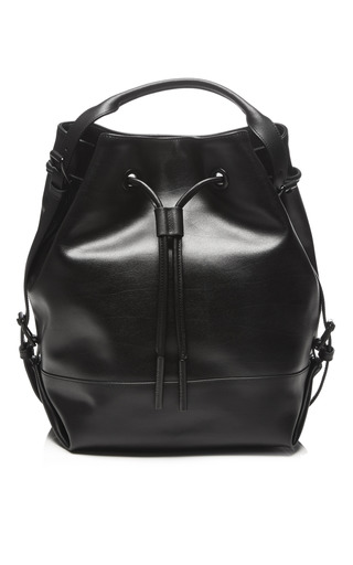 Medium opening ceremony black izzy leather back pack