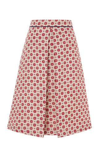 Medium sea off white dot canvas long skirt