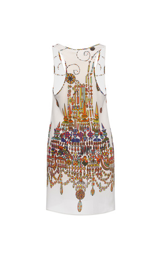 Chandelier Crepe De Chine Tunic by MSGM for Preorder on Moda Operandi