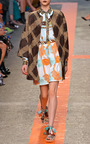 Woven Matting Multicolor Coat by MSGM for Preorder on Moda Operandi