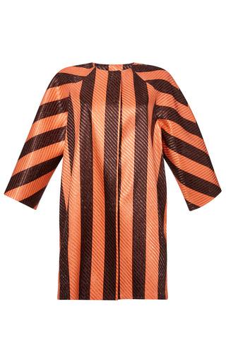 Striped Raffia Coat by MSGM for Preorder on Moda Operandi