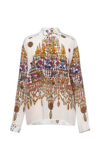 Medium msgm print chandelier crepe de chine blouse