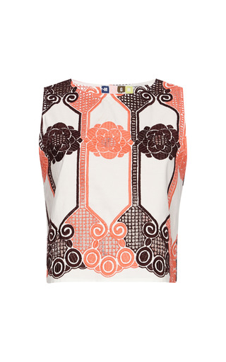 Floral Macrame Lace Tank by MSGM for Preorder on Moda Operandi