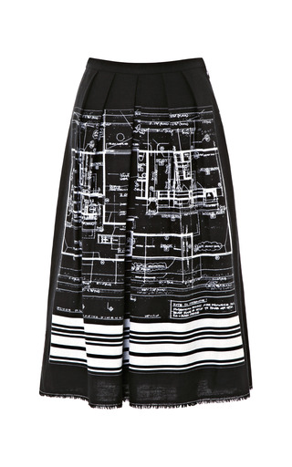 Medium clover canyon black blueprint skirt