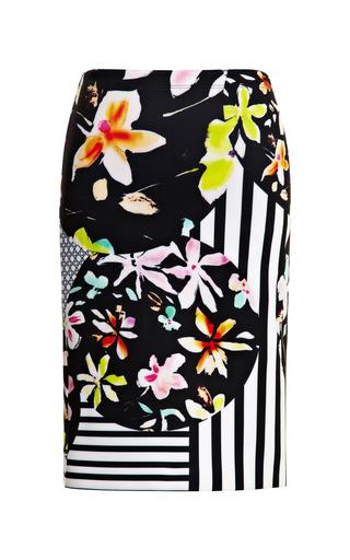 Medium clover canyon black floral discs skirt