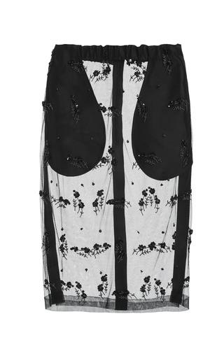 Medium no 21 black gilda skirt with light embroidery