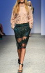 Bottle Green Gilda Skirt by NO. 21 for Preorder on Moda Operandi