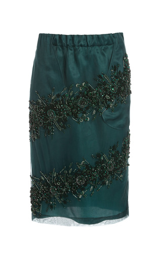Medium no 21 green bottle green gilda skirt