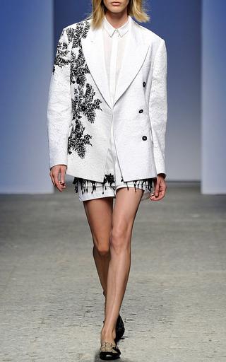 White Giacinta Jacket by NO. 21 for Preorder on Moda Operandi