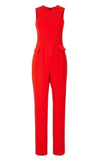 Medium opening ceremony red celia crepe cross front jumpsuit