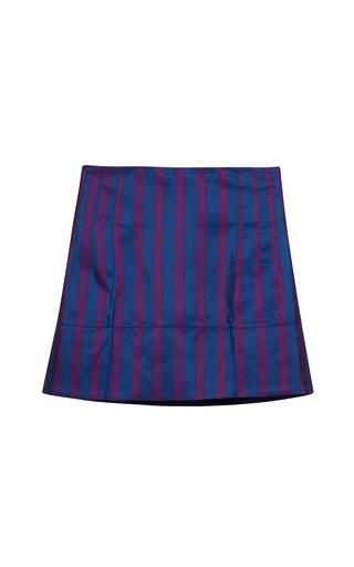 Medium aquilano rimondi blue striped silk mini skirt in blueviola