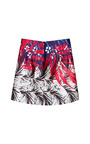 Scuba Stampa Balza Mini Skirt by AQUILANO.RIMONDI for Preorder on Moda Operandi