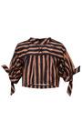 Striped Silk Crop Top by AQUILANO.RIMONDI for Preorder on Moda Operandi