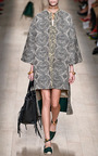 Tweed Grifoni Dolman Sleeve Coat by VALENTINO for Preorder on Moda Operandi