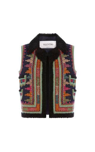 Medium valentino navy denim embroidered vest