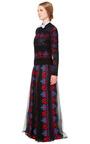 Veletta Tribal Stripes Long Skirt With Sheer Panels by VALENTINO for Preorder on Moda Operandi