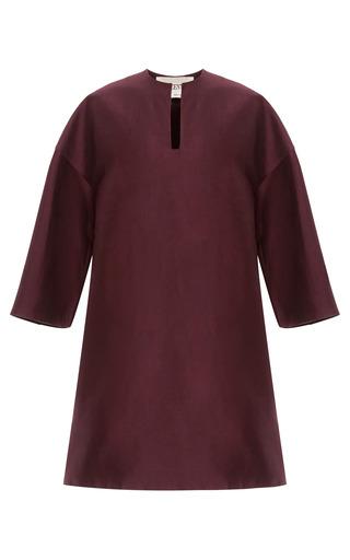 Medium valentino red silk mikado 34 sleeve tunic