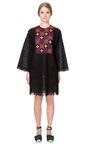Leaf Guipure 3/4 Dolman Sleeve Tunic by VALENTINO for Preorder on Moda Operandi