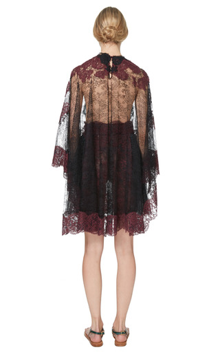 Lace Capsleeve Dress With Lace Capelet by VALENTINO for Preorder on Moda Operandi