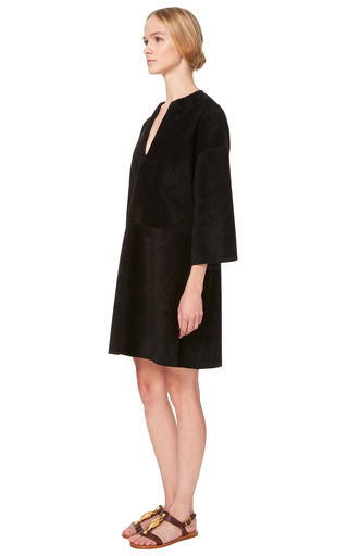 Suede 3/4 Sleeve Tunic by VALENTINO for Preorder on Moda Operandi