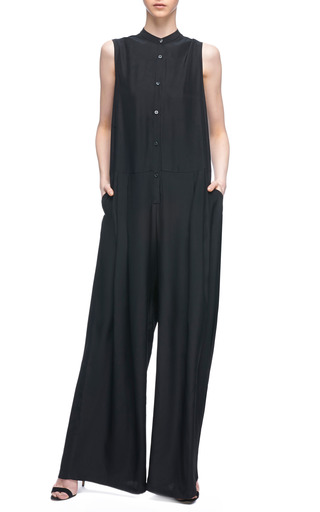 Wide Leg Silk Jumpsuit by TOME Now Available on Moda Operandi