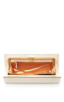 Leather Clutch by SERGIO ROSSI Now Available on Moda Operandi