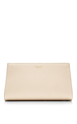 Medium sergio rossi nude leather clutch