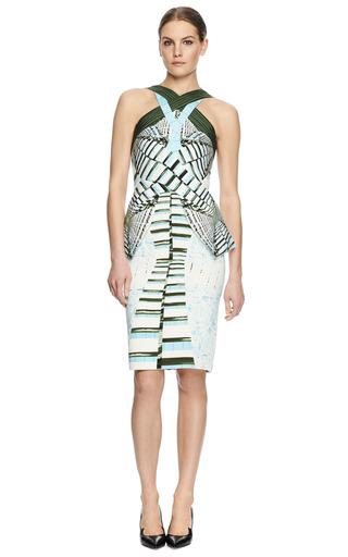 Ln Printed Crepe Jersey Dress by PETER PILOTTO Now Available on Moda Operandi
