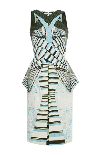 Medium peter pilotto multi ln printed crepe jersey dress