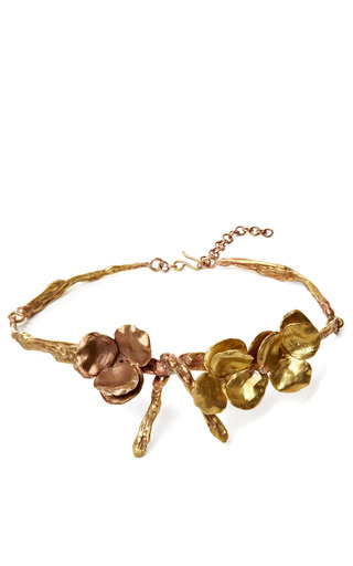 Medium giambattista valli gold gold floral belt