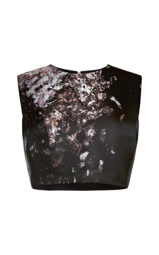Medium giambattista valli black spray jacquard top