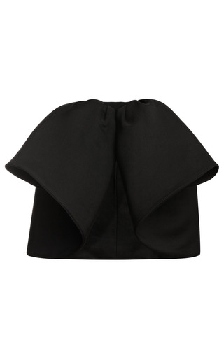 Medium giambattista valli black organza mini skirt