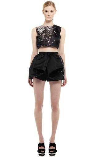 Spray Jacquard Mini Skirt by GIAMBATTISTA VALLI for Preorder on Moda Operandi