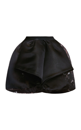 Medium giambattista valli black spray jacquard mini skirt