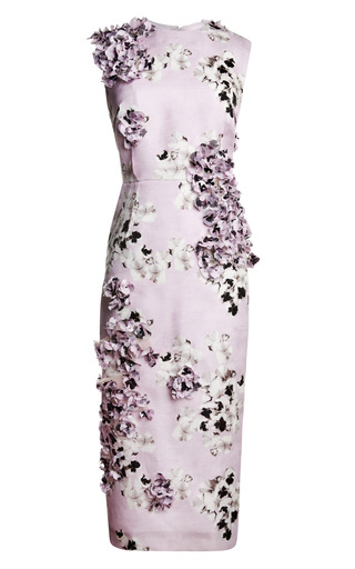 Medium giambattista valli purple bouquet gazar long tube dress