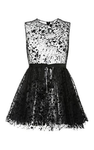 Medium giambattista valli black polka dot tulle mini dress