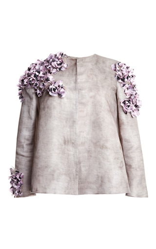 Medium giambattista valli dark grey sacco gazar wheel jacket
