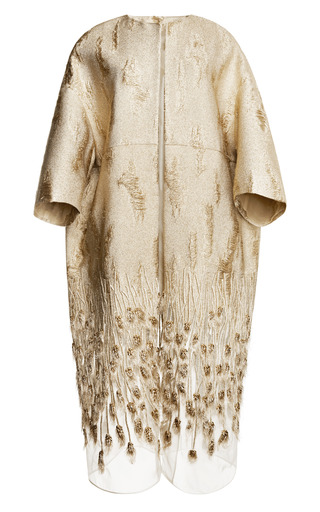 Medium giambattista valli gold gold stramato peacoat