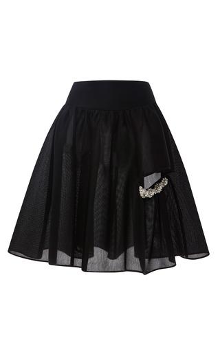Medium simone rocha black pearl embellished neoprene skirt