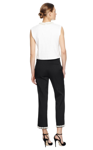 Pearl Embellished Cropped Ankle Pants by SIMONE ROCHA Now Available on Moda Operandi