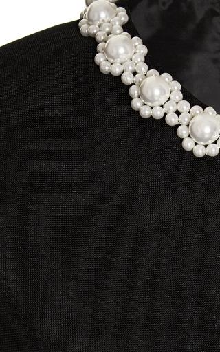 Pearl Embellished Neoprene Top by SIMONE ROCHA Now Available on Moda Operandi