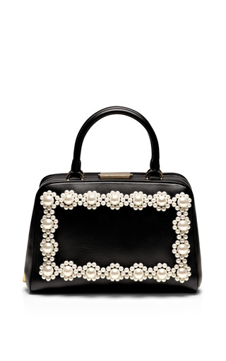 Pearl Embellished Leather Tote by SIMONE ROCHA Now Available on Moda Operandi