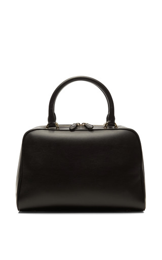 Medium simone rocha black zip top medium leather satchel