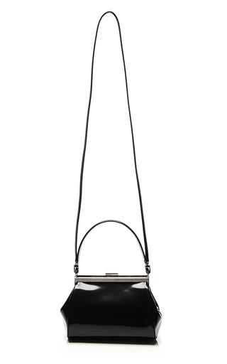 Small Glossy Leather Satchel by SIMONE ROCHA Now Available on Moda Operandi