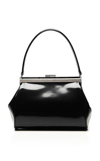 Medium simone rocha black small glossy leather satchel