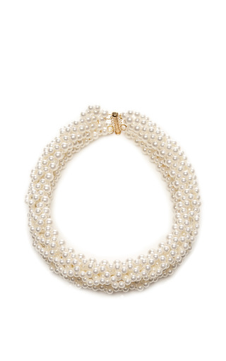 Layered Multi Strand Pearlescent Necklace by SIMONE ROCHA Now Available on Moda Operandi